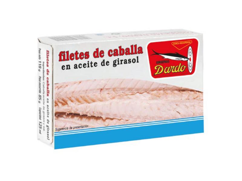 FILETE DE CABALLA EN ACEITE DE GIRASOL