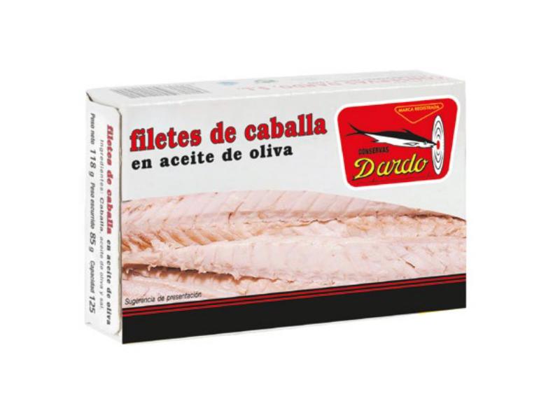 FILETE DE CABALLA EN ACEITE DE OLIVA