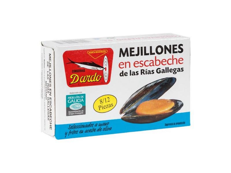 MEJILLONES EN ESCABECHE FRITOS EN ACEITE DE OLIVA