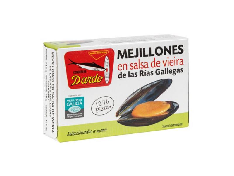 MEJILLONES EN SALSA DE VIEIRA