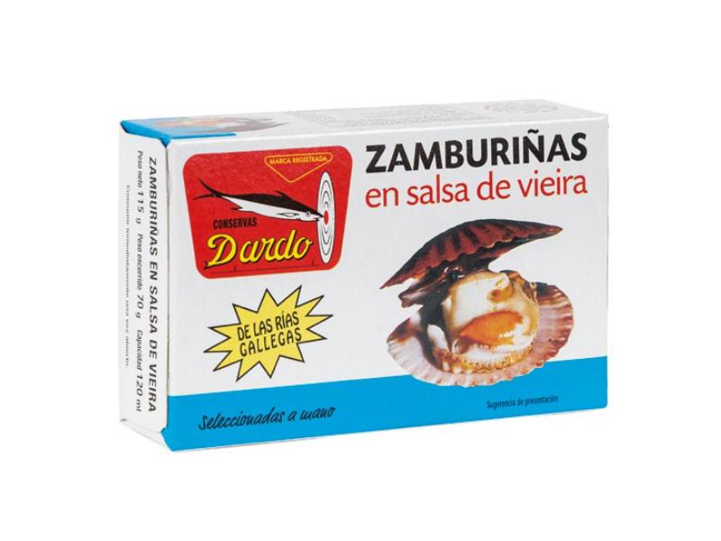 ZAMBURIÑAS DE LAS RÍAS GALLEGAS EN SALSA DE VIEIRA
